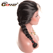 Gossip Lace Front Human Hair Wigs For Black Women Glueless Brazilian Body Wave Wigs With Baby Hair Pre Plucked Hairline Non Rem