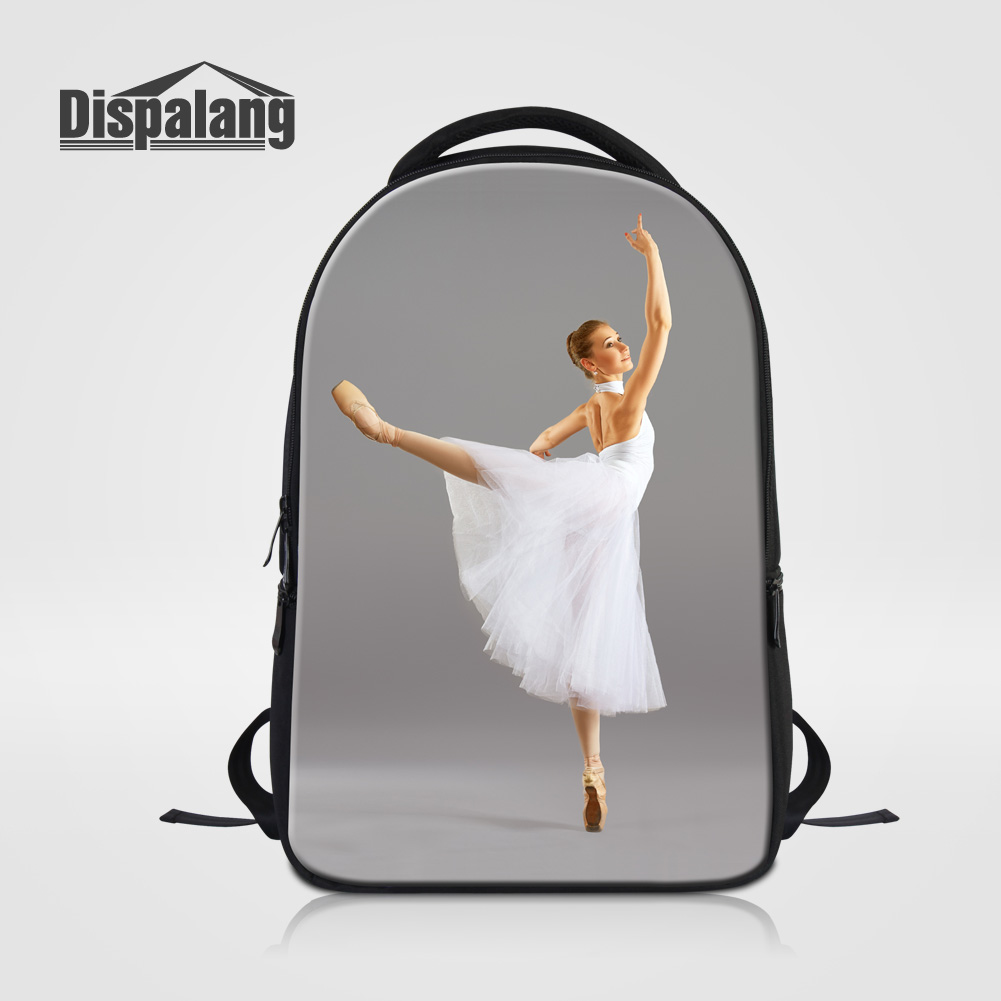 Dispalang Carteras Mujer De Hombro Dancing Ballet Girl Printing Women Travel Backpack Ladies School Bag Bagpack