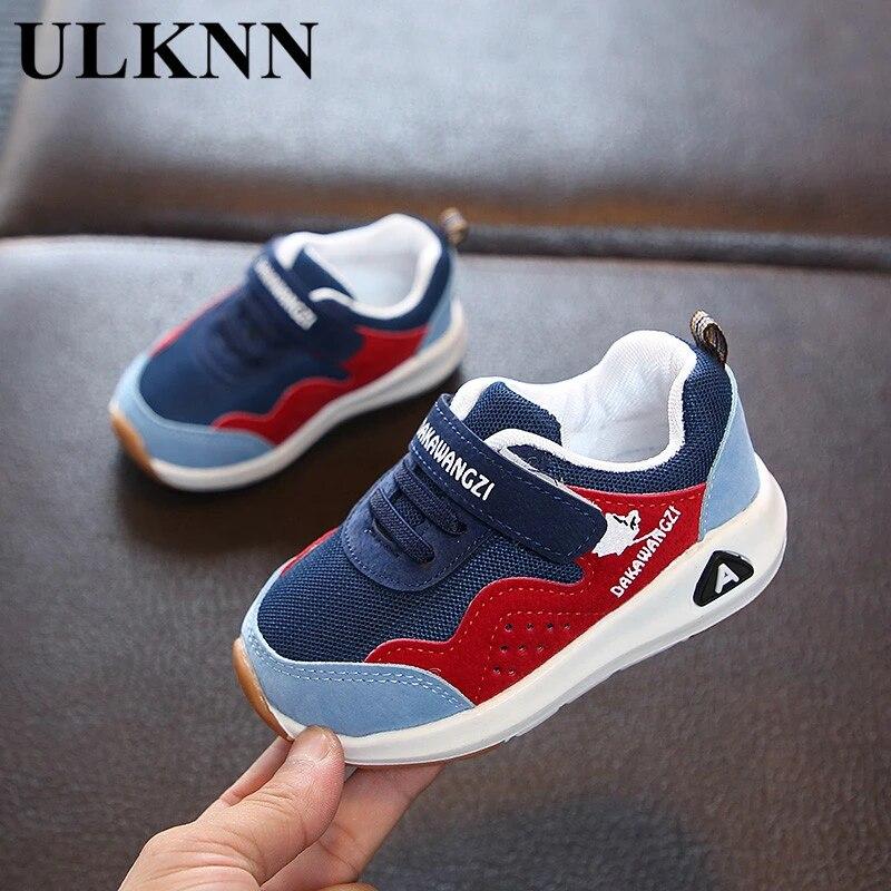 Повседневная детская обувь ULKNN, новая детская спортивная обувь для мальчиков и девочек, Повседневная дышащая сетчатая обувь для малышей, Размер 15-33