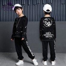Niños Modern Jazz danza ropa niños sudaderas + Pantalones Street Dance Hip  Hop Dance trajes para niños Stage Performance 264652e98c5