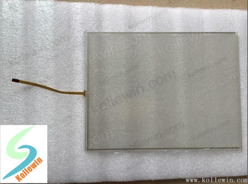 """MT8121 1PC new touch glass for touch panel HMI MT8121T/MT8121X/MT8121TWV/MT8121iE, 12.1""""  Gray side."""