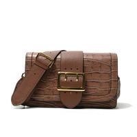 Neue 2018 Damen Echtes Leder Flap Bag Stein Crossbody Designer Mini Messenger Bags Metallschnalle Vintage Schulter Kleine Tasche