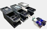 Mayor estrella de Múltiples Funciones del coche caja de la consola, apoyabrazos caja de almacenamiento con USB, luz led para Buick GL8, Honda Odyssey 2015-2017