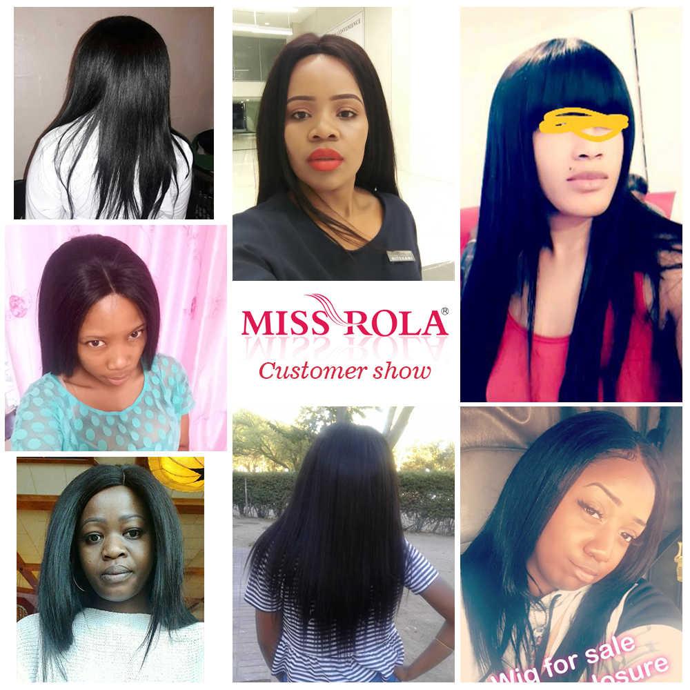 Bayan Rola Saç Brezilyalı Saç Örgü Demetleri 100% İnsan Saç Uzatma Doğal Renk 1 ve 3 Düz Saç Demetleri Olmayan remy