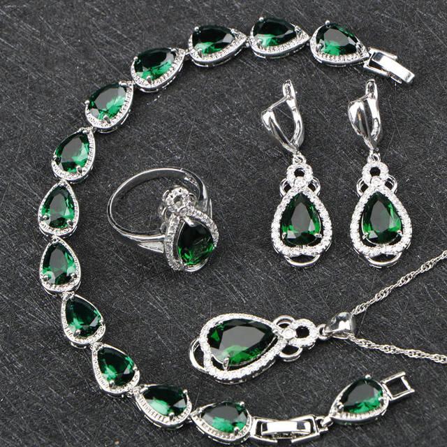 Green Drop Zircon Women...
