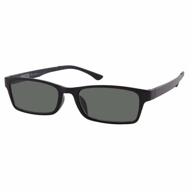 6a6f81427a 1x Tinted Green Polarized Prescription Glasses Mens Womens Nearsighted  Eyewear Distance Black Frame -0.5 to -6.0 Myopia Eyewear