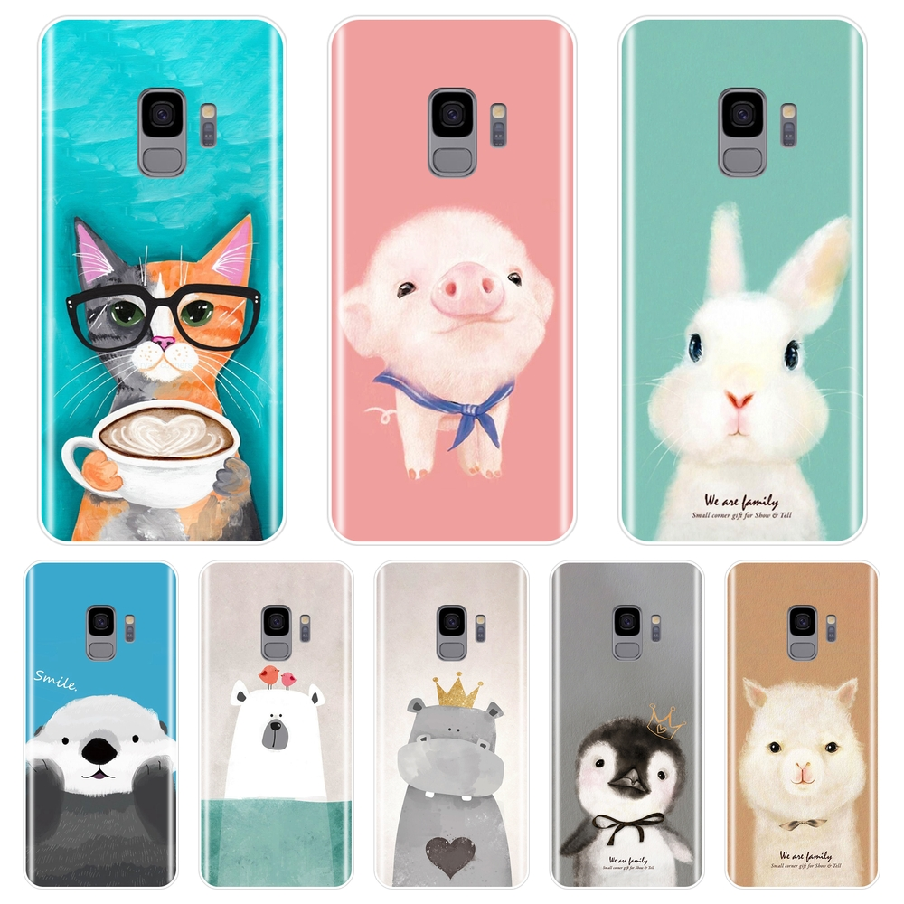 Soft Back Cover For <font><b>Samsung</b></font> Galaxy S5 S6 <font><b>S7</b></font> <font><b>Edge</b></font> S8 S9 Plus Pink Pig Bear <font><b>Phone</b></font> <font><b>Case</b></font> Silicone For <font><b>Samsung</b></font> Galaxy Note 4 5 8 9 image