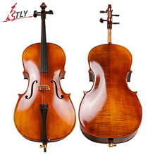 TONGLING Full Size Matt Cello 4/4 3/4 1/2 1/4 Antique Natural Flamed Violoncello Professional Acoustic Musical Instrument