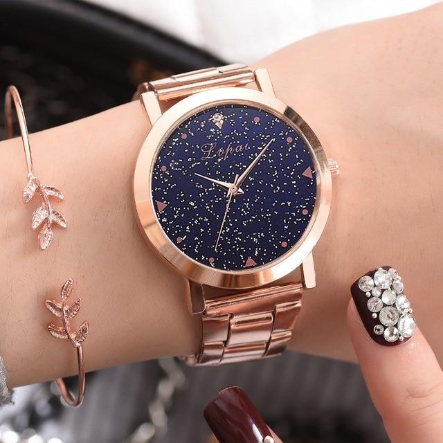 Women Dress Watches Rose Gold Stainless Steel Lvpai Brand Fashion Ladies Wristwatch Creative Quartz Clock Cheap Luxury Watches 1