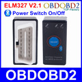 Best Quality Mini OBD2 ELM327 Power Switch Diagnostic Scanner V2.1 ELM 327 Bluetooth Support OBDII Protocols Auto Code Reader
