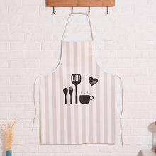 1 Psc 60x80 cm Printed Unisex Cooking Dining Room Kitchen BBQ Restaurant Cleaning Pocket Waitress Aprons Custom Print Logo Apron