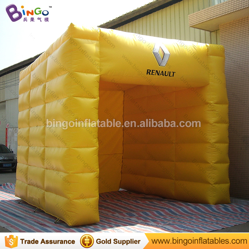 High quality PVC Tarpaulin inflatable cube tent with logo for sale customized 4X4X4 m in ...