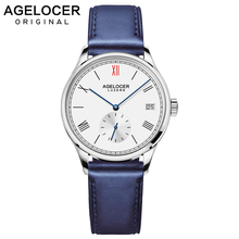 Agelocer Brand Swiss Automatic Watch Women Leather Bracelet Date Ladies Wristwatch Black Mechanical Watch Clock Reloj