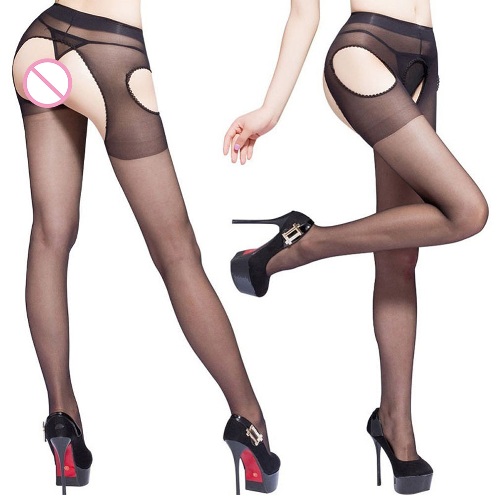 New 1 Pair Hot Sexy Women Spandex Autumn Winter Tights Open Crotch Crotchless Sheer Seamless Pantyhose Silk Stockings
