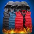 Envío libre más grande del tamaño 4XL 5XL 6XL 7XL 8XL 10XL hombres tops para hombre Otoño invierno abajo chaleco de algodón de la marca de abrigo militar ropa