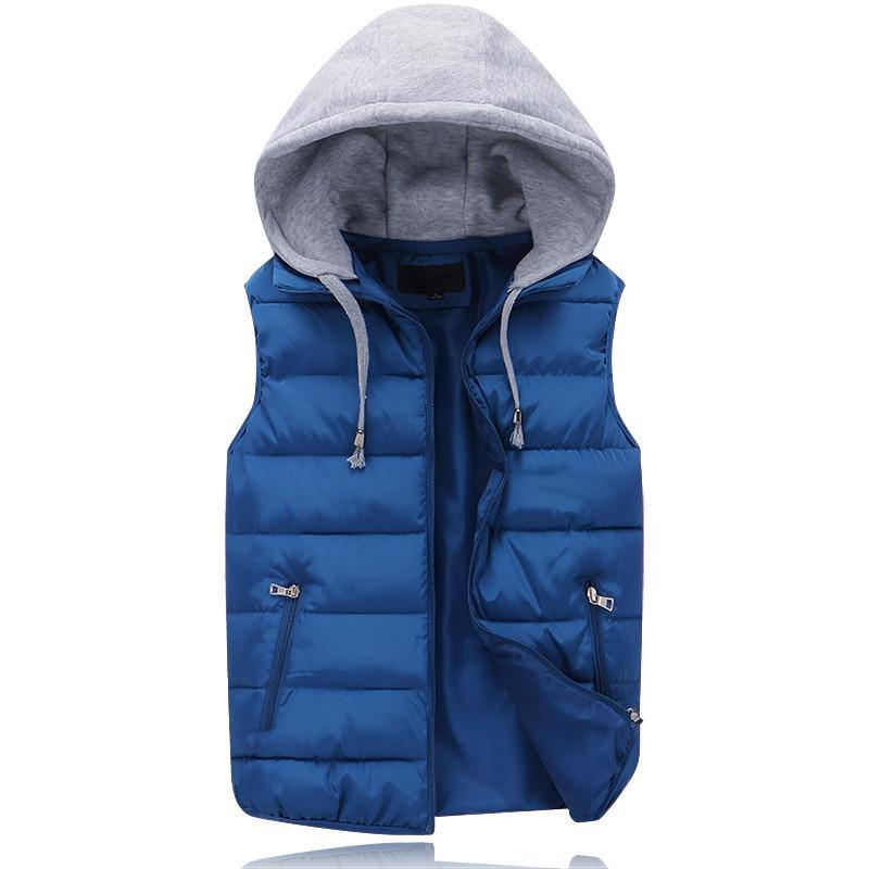 Men's Sleeveless Vest jacket 2017 New Winter Mens Hooded ...