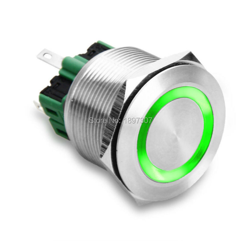 Us 5 81 5 Off 25mm Momentary 1no1nc Metal Switch With Stainless Steel Push Buttons Led Light 5a 250vac Waterproof Ce In Switches From Lights