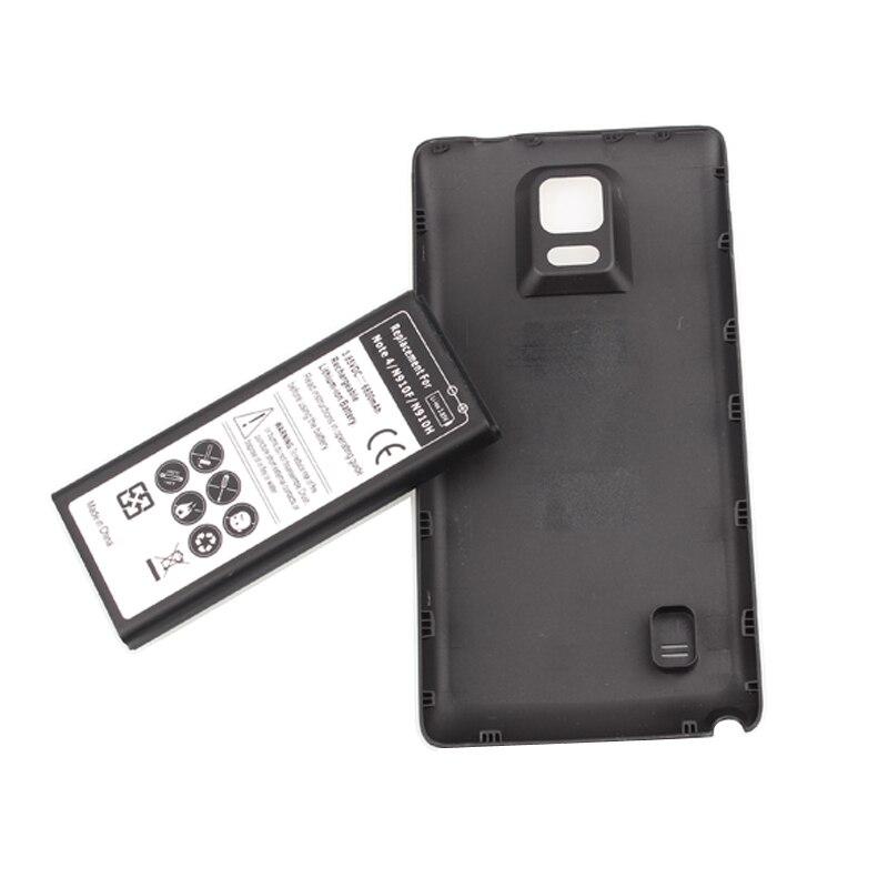 Haute Qualité 6800 mah Batterie Pour Samsung Note IV 4 Note4 N9100 N910F N910H N910 Lithium-ion Moblie Téléphone portable Batterie + Retour cas