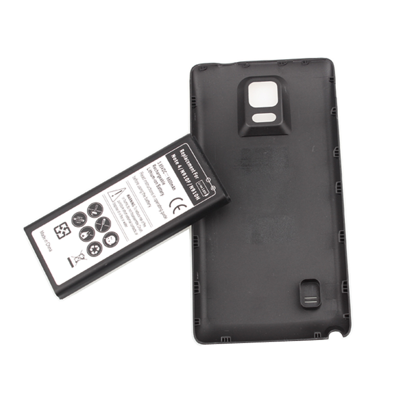 High Quality 6800mah Battery For Samsung Note IV 4 Note4 N9100 N910F N910H N910 Lithium-ion Moblie Cell Phone Battery +Back Case