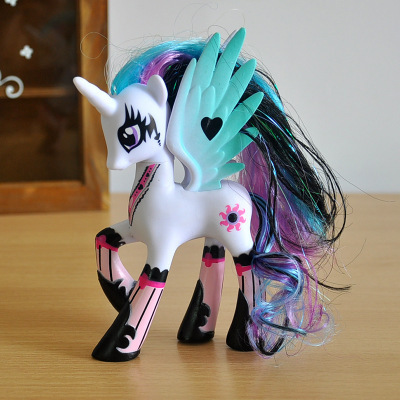 Image 5 - 2018 explosion models 14CM pony 12 pony girl model unicorn cake baking doll ornaments doll(Opp packaging)-in Action & Toy Figures from Toys & Hobbies