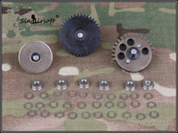 Sinairsoft BD Улучшено 4 мм оси Шестерни 18:1 армирование винтовая Супер момент Шестерни комплект BD4771B AEG Airsoft Шестерни коробка