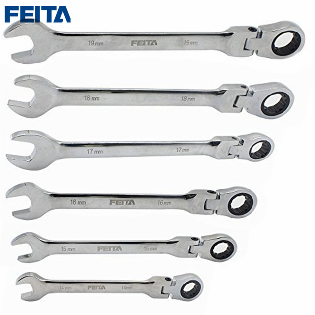 FEITA 14-19 mm Activities Ratchet Gears Wrench Set flexible Open End Wrenches Repair Tools To Bike Torque Wrench Spanner