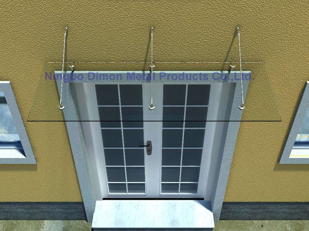 Dimon High Quantity Glass Canopy Ss304 Door Awning Bracket Ss304