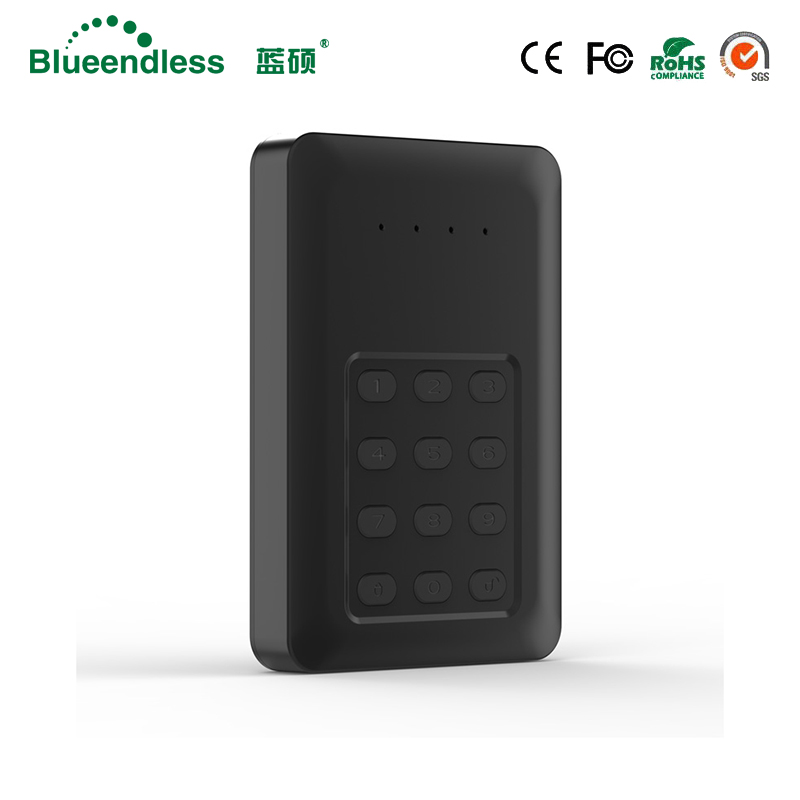 Blueendless Lock Series 2.5 HDD Enclosure Drive Disk Sata to usb 3.0 Encrypted hdd box for Laptop Desktop PC Computer for pc and mac nobletlocks ns20t xtrap notebook cable lock laptop lock 6feet