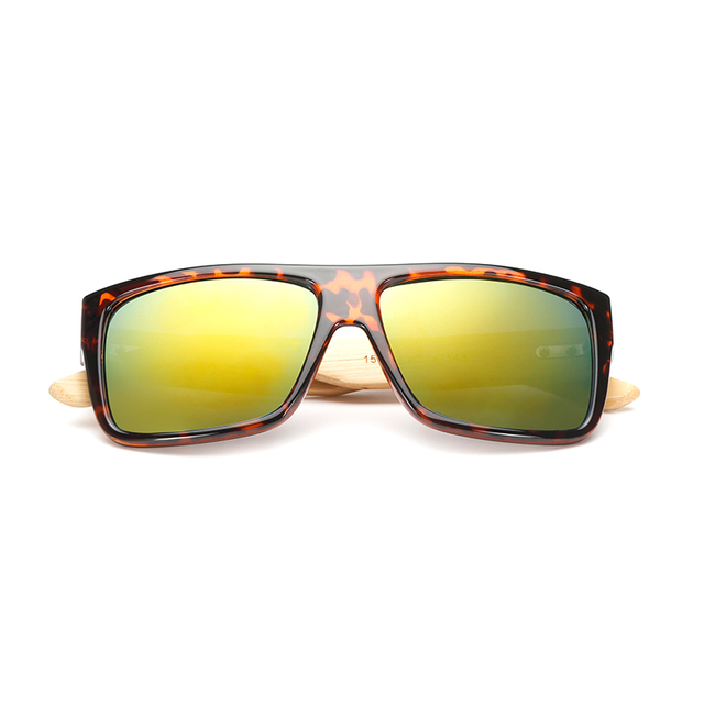 Bamboo Square Sunglasses Men Women Wooden Designer