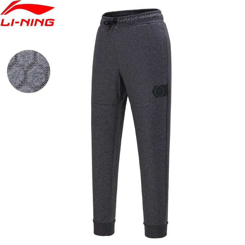 Li-Ning Men Wade Series Sweat Pants Warm Fleece Regular Fit 72% Cotton 28% Polyester Li Ning LiNing Sports Pants AKLN903 MKY478