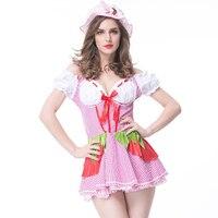 Women French Cosplay Maid Uniform Lingerie Sexy Halloween Costume Set Uniform Dress Women Cosplay Exotic Apparel Uniform
