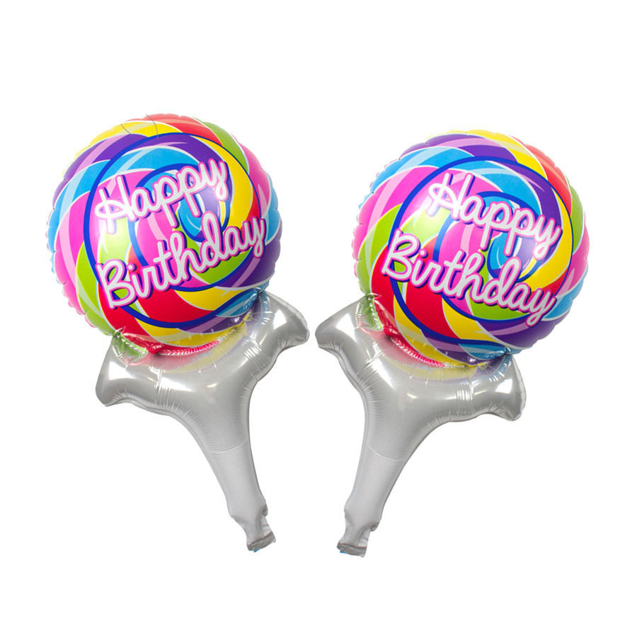 new 18 inch round aluminum balloons Happy Birthday balloons decorated children'