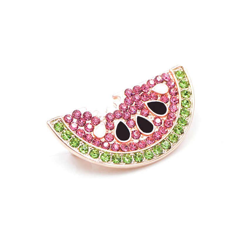 Cindy Xiang Musim Panas Gaya Berlian Imitasi Semangka Bros untuk Wanita Cute Buah Bros Pin Ransel Anak-anak Lencana Fashion Perhiasan
