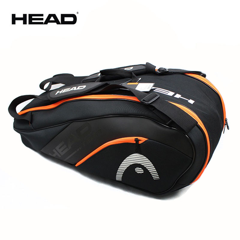 Original HEAD 9 Rackets Tennis Bag With Shoes Compartments Also For Badminton All Sports Accessories In