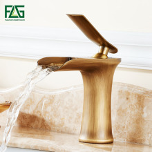 FLG Concise Basin Faucet Fountain Bathroom Tub Waterfall Faucet,Single Handles Mixer Sink Faucet Brushed Nickel Water Tap M253N цена