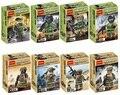 8 unids/lote decool 304-311 equipo swat ejército clon figura de acción building blocks establece juguetes de los ladrillos