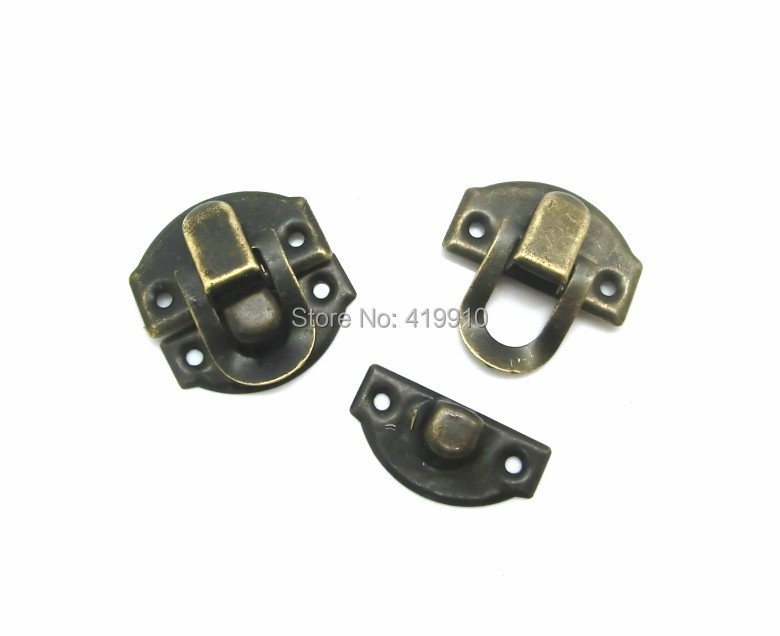 Free Shipping-50 Sets Bronze Tone Jewelry Wooden Case Boxes Making Lock Latch Hardware 28mm x 27mm 27mm x 13mm,J1812 ...