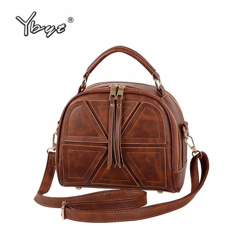 YBYT Vintage Patchwork Women Crossbody Bag Luxury Handbags Women Bags Designer Hotsale Female Leather Shoulder Bag Bolsos Mujer