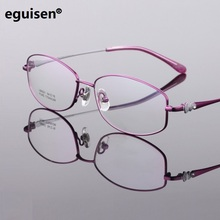 width-140 New pure titanium women eyeglasses frame ladies stylish ultra-light fashion female myopia spectacle lentes