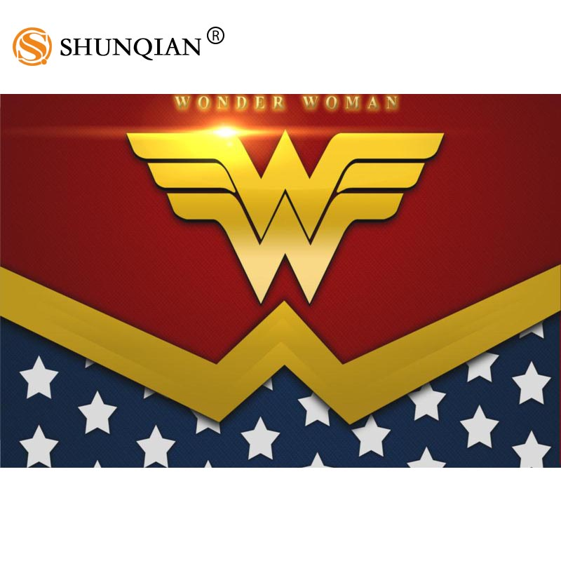 New Arrival wonder woman logo poster Cartoon Silk Poster custom posters for kids more size 27x40 30x45 40x60 50x75 60x90