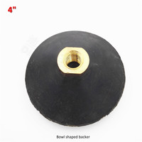 DIATOOL 4inch Rubber Back Pad For Bowl Shaped Sanding Disc M14 Or 5 8 11 Thread