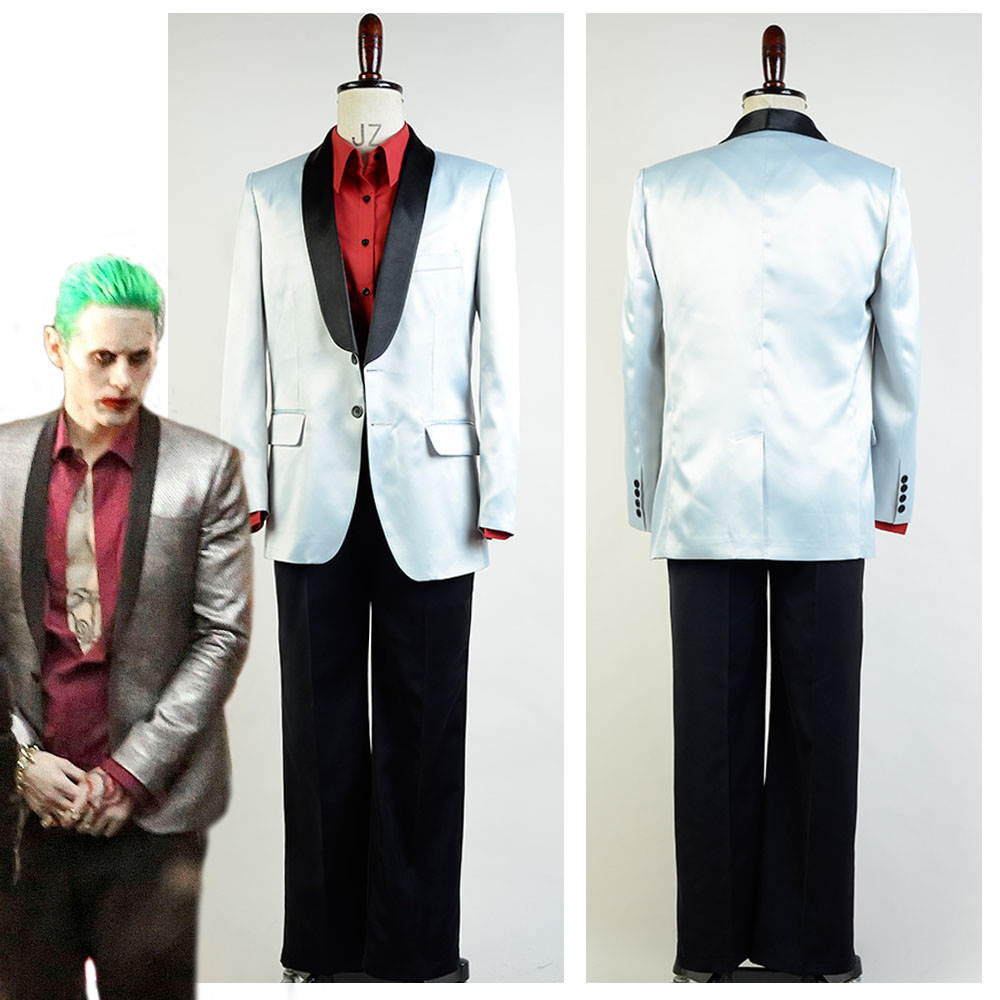 High Quality Batman Suicide Squad Jared Leto Joker Halloween Cosplay Costume For Adult font b Men