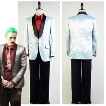 High Quality Batman Suicide Squad Jared Leto Joker Halloween Cosplay Costume For Adult Men Custom Made