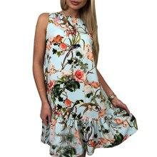 Floral printed dresses sweet Elegant causl mini sundress for femme 2018 New mini party tunic Vestido