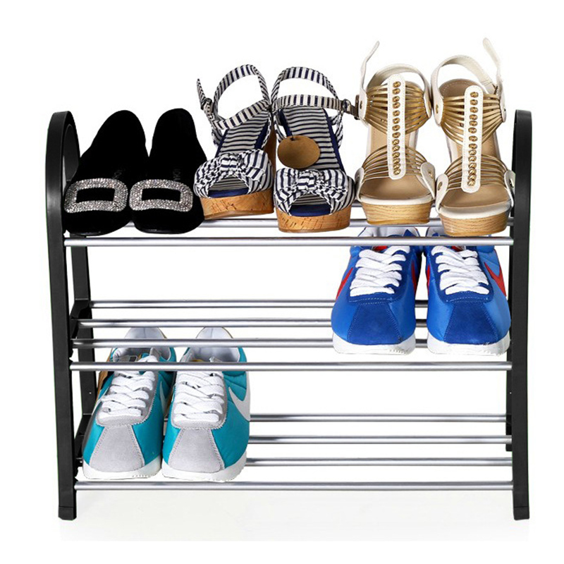 Shoes shelf Easy Assembled Light Plastic 3 Tier Shoe Rack Storage Organizer Stand Holder Keep Room tidy Saving Space copper bathroom shelf basket soap dish copper storage holder silver