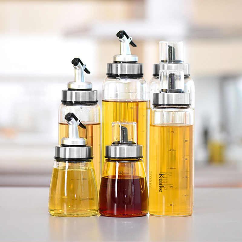 bouteille de rangement d huile et de vinaigre distributeur en verre borosilicate bouteille de sauce bouteille d assaisonnement accessoires