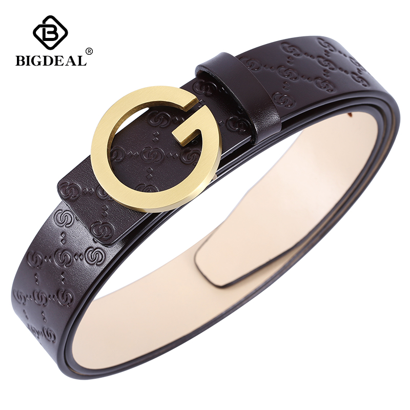 BIGDEAL High Quality Cow Leather Belt For Men Business Strap Men's Belt Cowskin Casual Belt Gift-in Men's Belts from Apparel Accessories on AliExpress