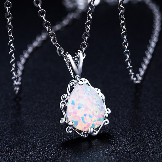7ffcaba9a553f US $8.67 23% OFF|2019 New Love god Cupid couple Opal Necklace Wholesale  Fashion Jewelry 100% 925 silver Crystal from Swarovski Women -in Pendant ...