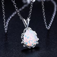 2020 New Love god Cupid couple Opal Necklace Wholesale Fashion Jewelry 100% 925 silver Crystal from Swarovskis Women