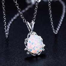 2020 Nieuwe Liefde God Cupido Paar Opaal Ketting Groothandel Mode sieraden 100% 925 Zilveren Kristal Uit Swarovskis Vrouwen